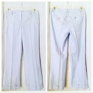 J. Crew ~ City Fit Seersucker Pants - Size 4